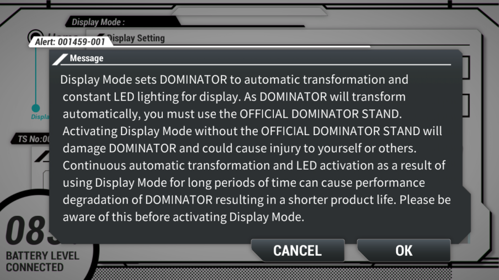 display mode overview text